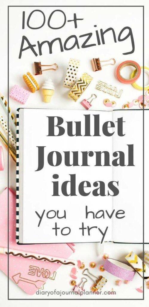 bullet journal ideas and collections