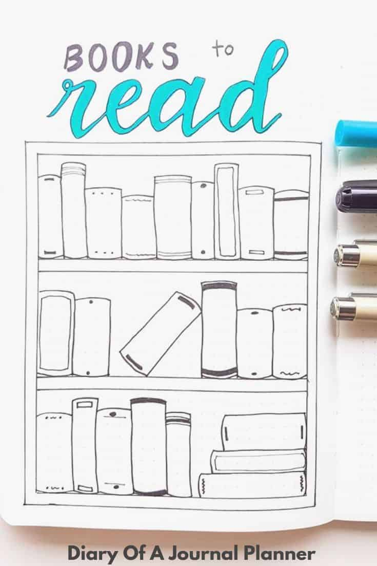 Learn how to draw a Books To read Page in your Bujo