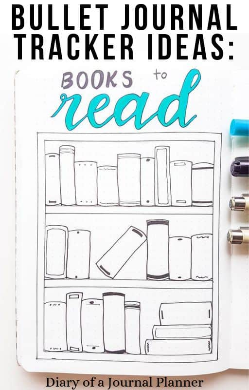 How To Draw A Book Tracker For Bullet Journal