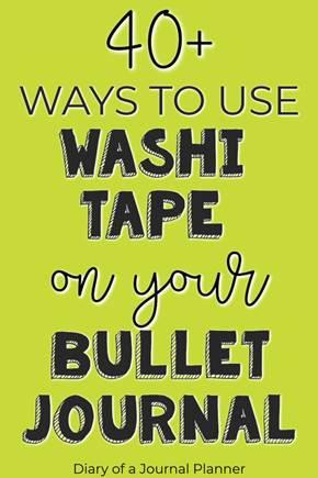 bullet journal washi tape uses