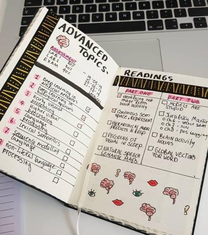Assignment Tracker Bullet Journal