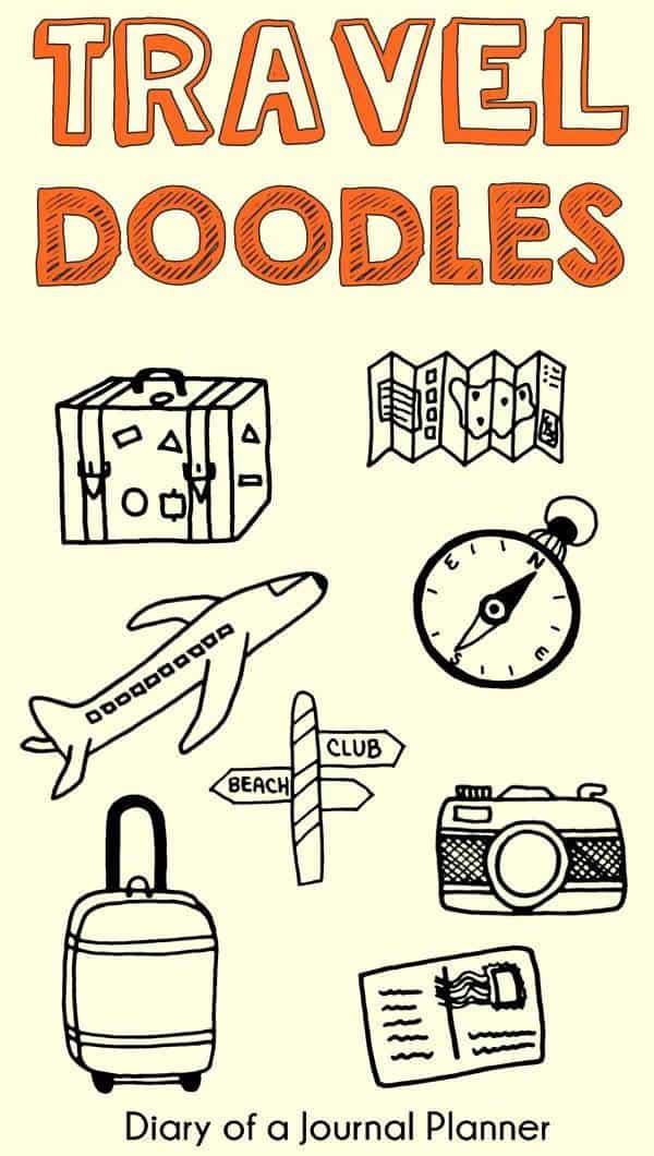 doodles for travel journal