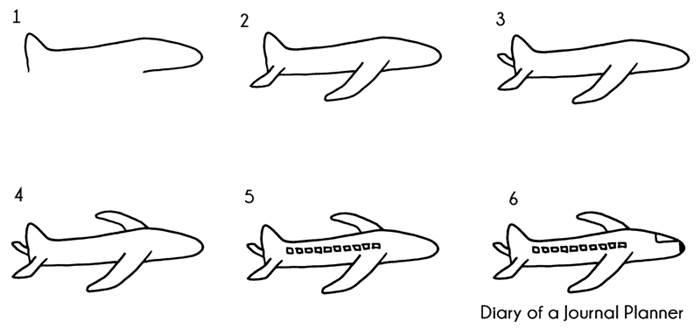 airplane doodle tutorial