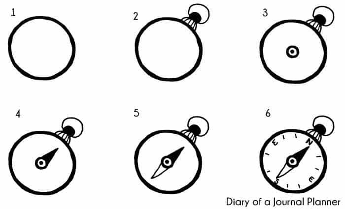 compass doodle tutorial