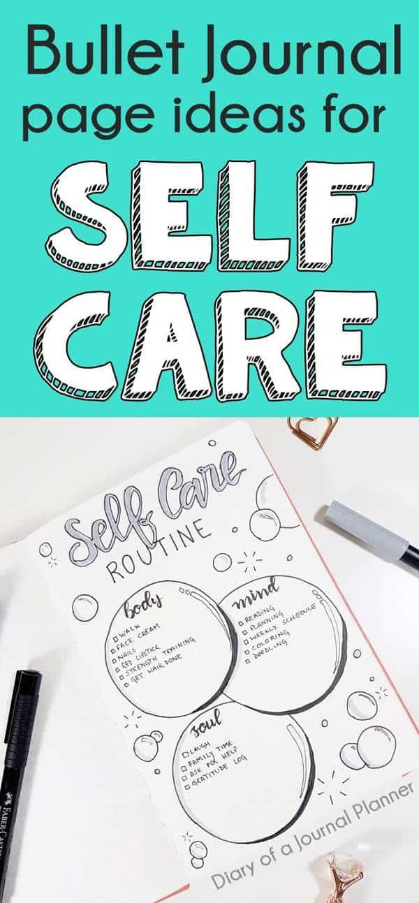 BULLET JOURNAL SELF CARE IDEAS