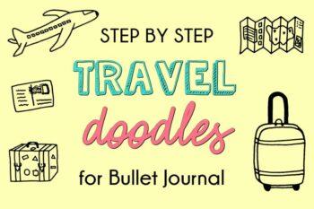 Travel Doodles for Bullet Journal