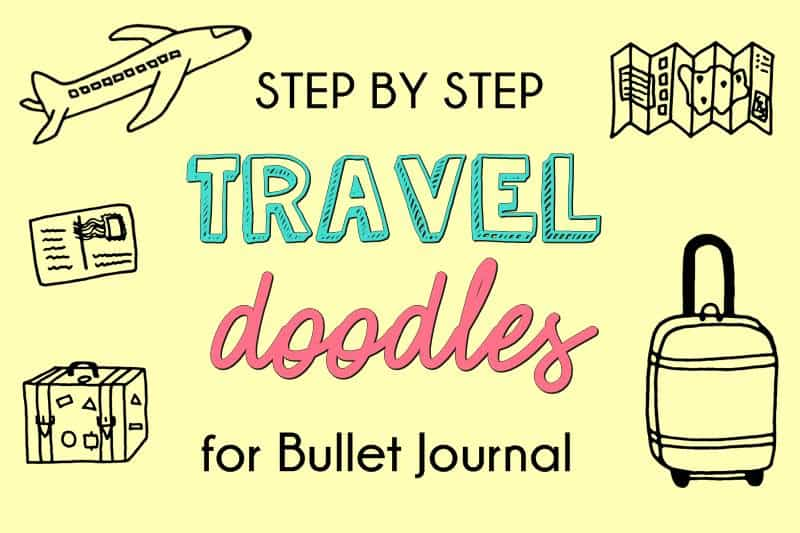 Travel Doodles for Bullet Journal