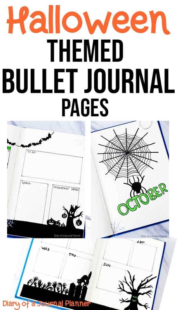Halloween bullet journal theme pages