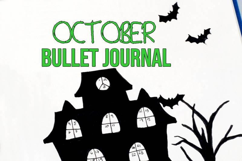 October Bullet Journal (Step by Step Halloween Bujo Tutorial)