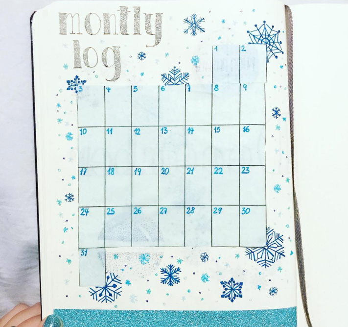 Monthly spread ideas for Festive season