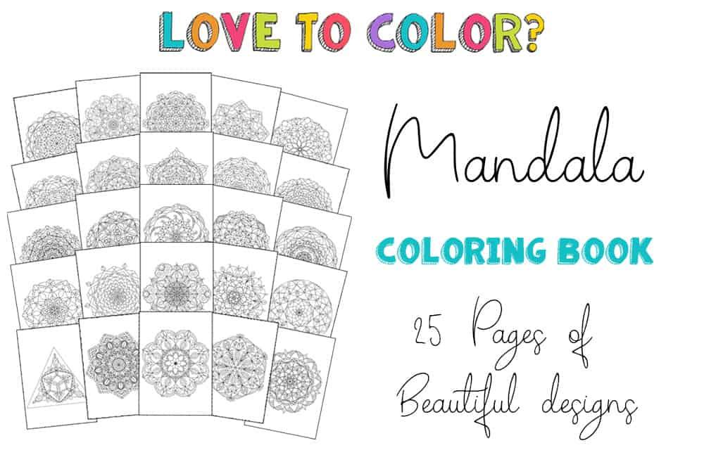Mandala printable Coloring Book