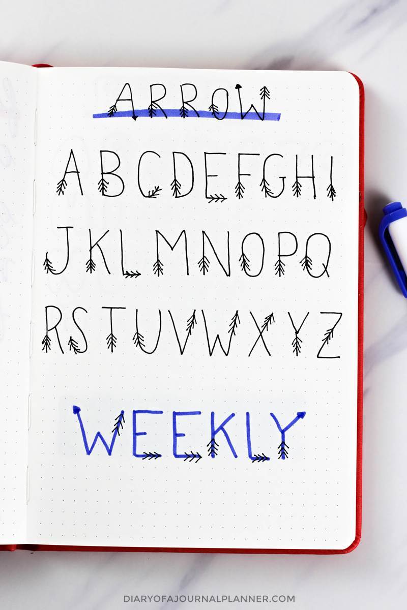 cute font for bullet journal