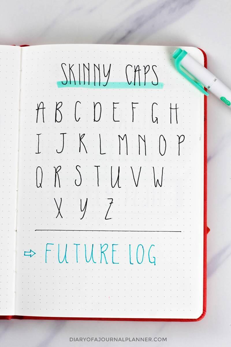 Skinny caps font