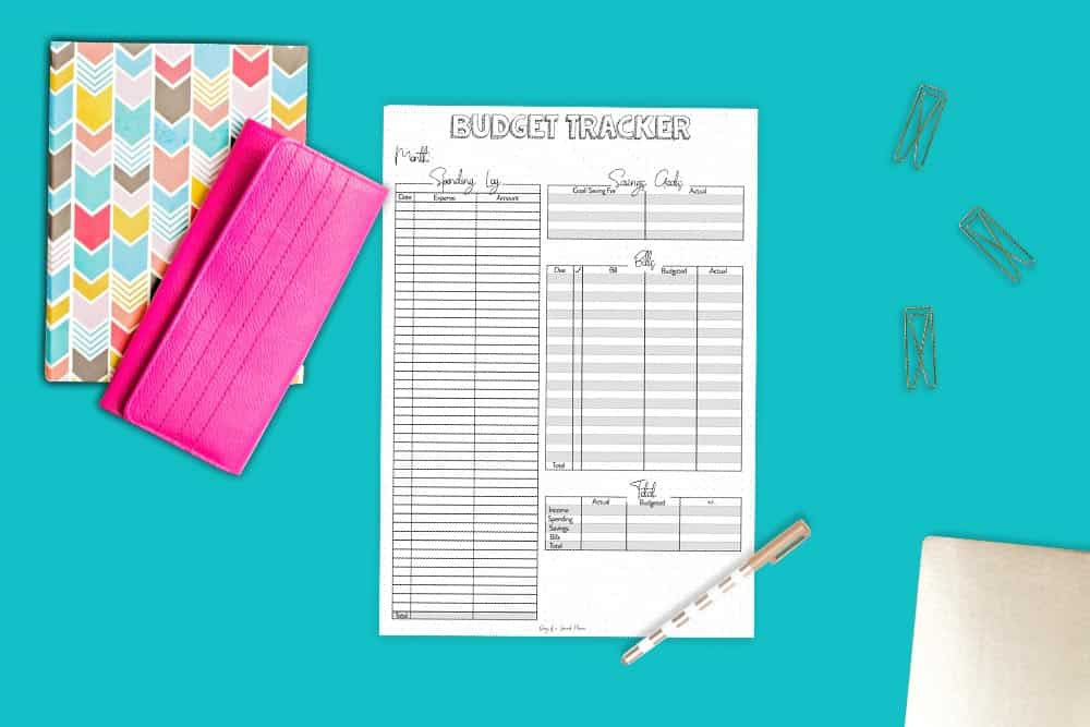 Bullet Journal Budget and Expense Tracker Ideas To Control Your Finances With FREE Budget Tracker Printable