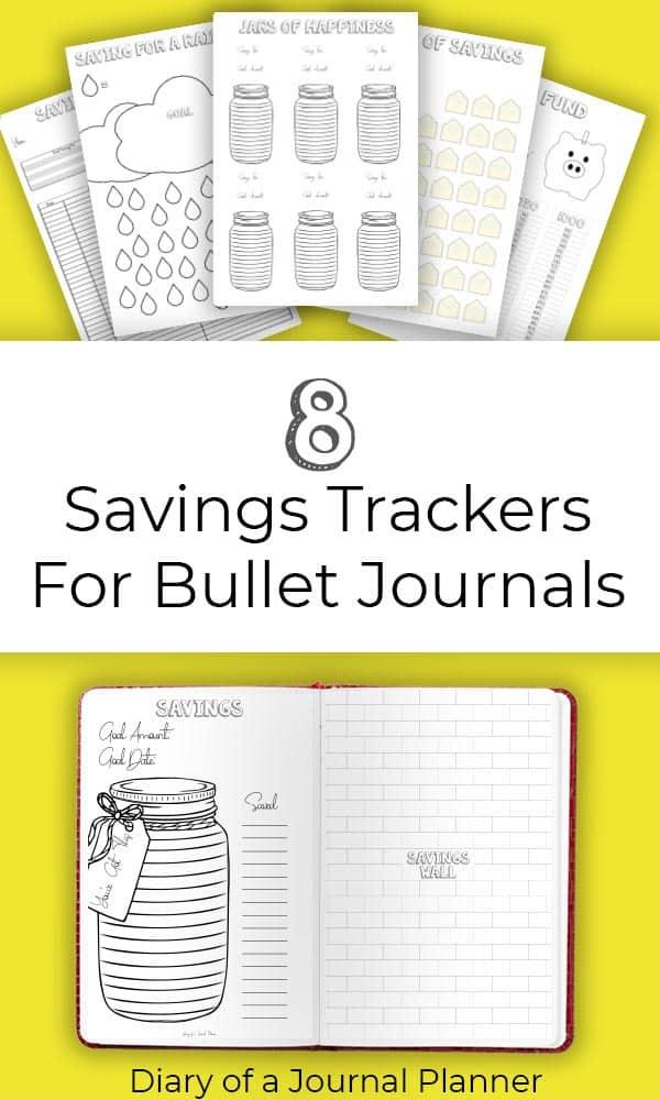 Bujo Savings Tracker Printables