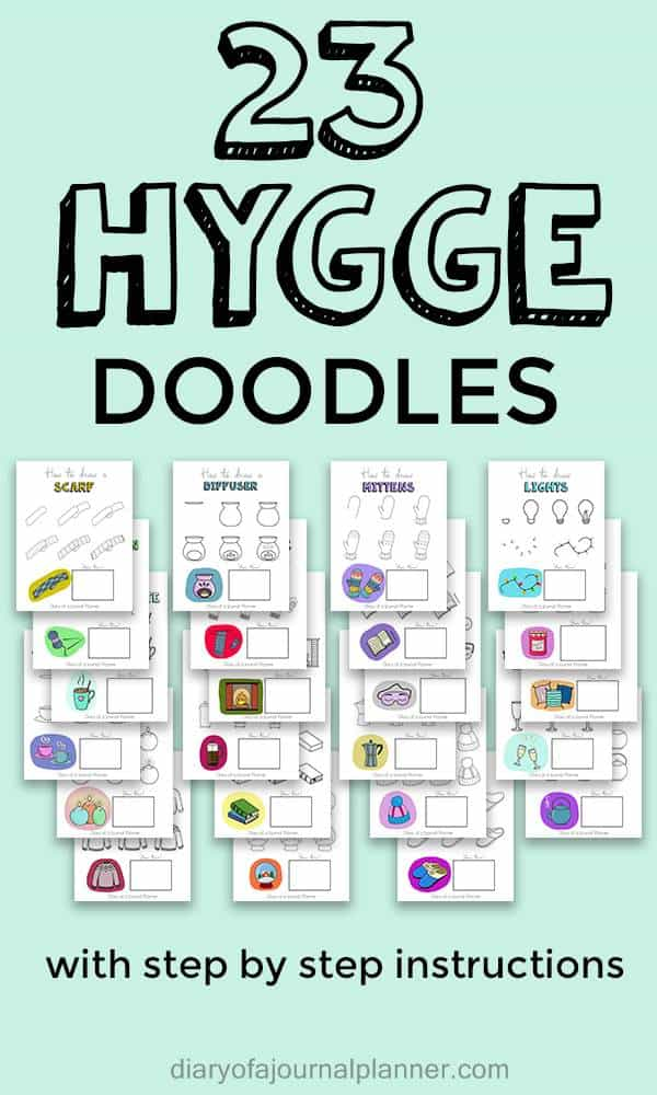How to draw Hygge doodles