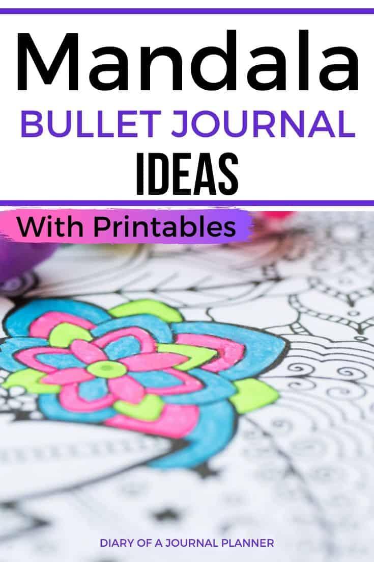 Mandala Printables For Bujo