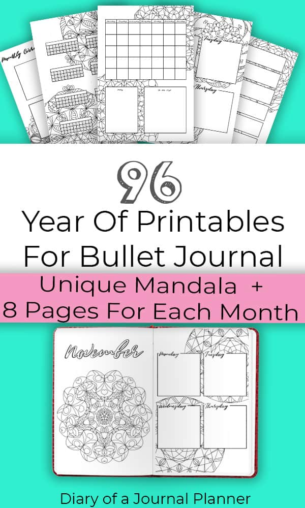 Bullet Journal Printables For Year