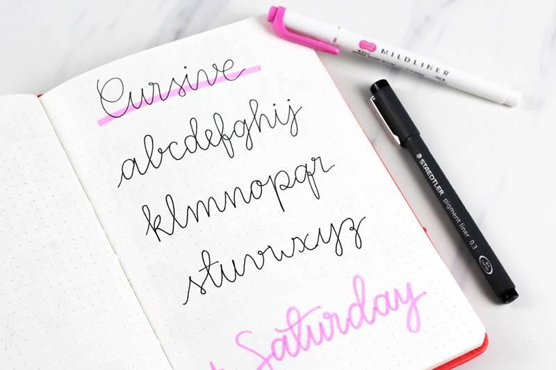 bullet journal handwriting fonts