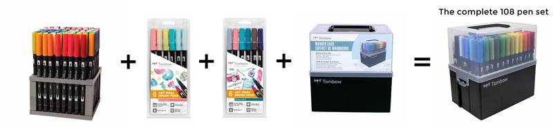 The complete tombow dual pen set