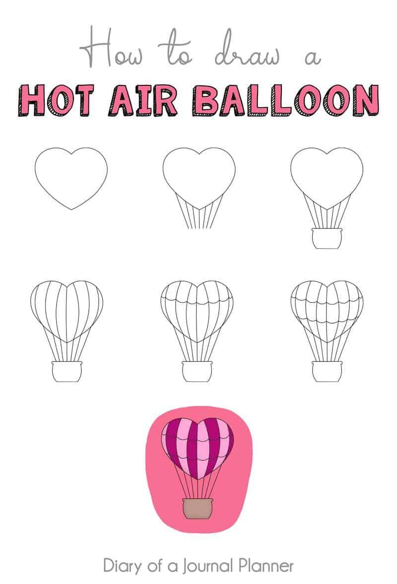 how air balloon doodle