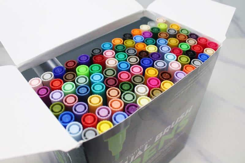 Tombow dual brush pens box