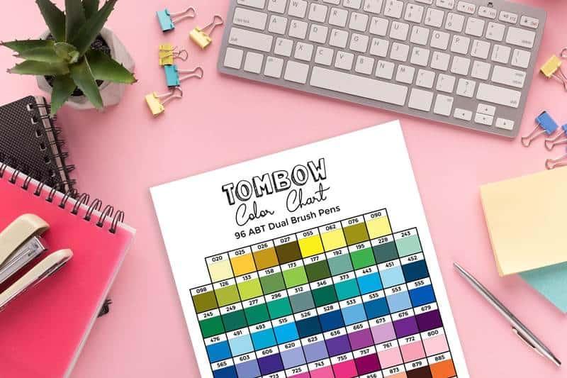 Tombow color chart (+ Printable tracker)