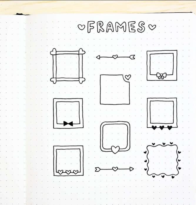 bujo frame