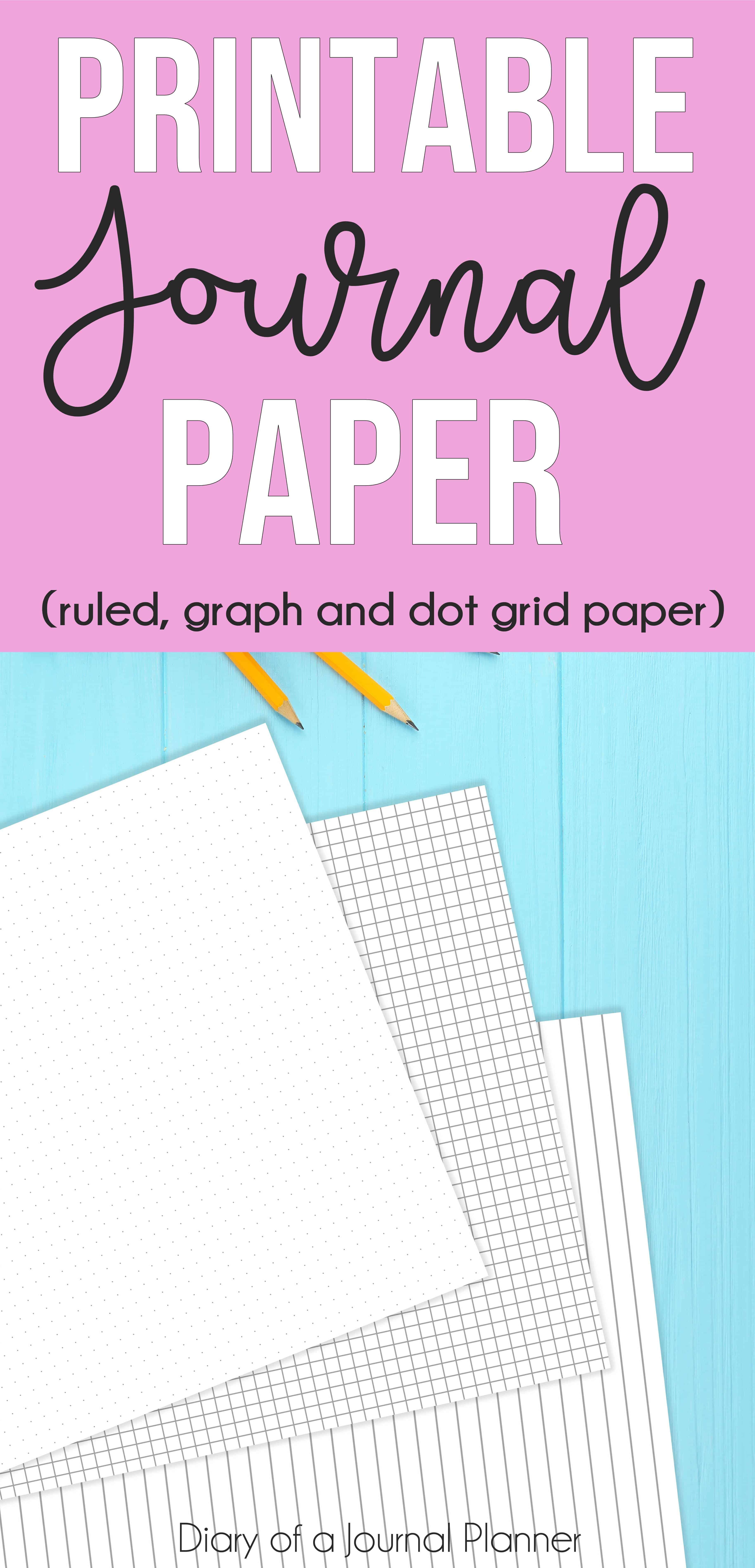 Free printable Journal paper