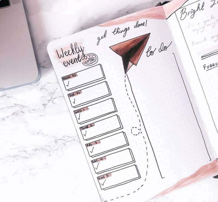 to do list for bujo