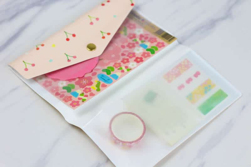 stationery case with items
