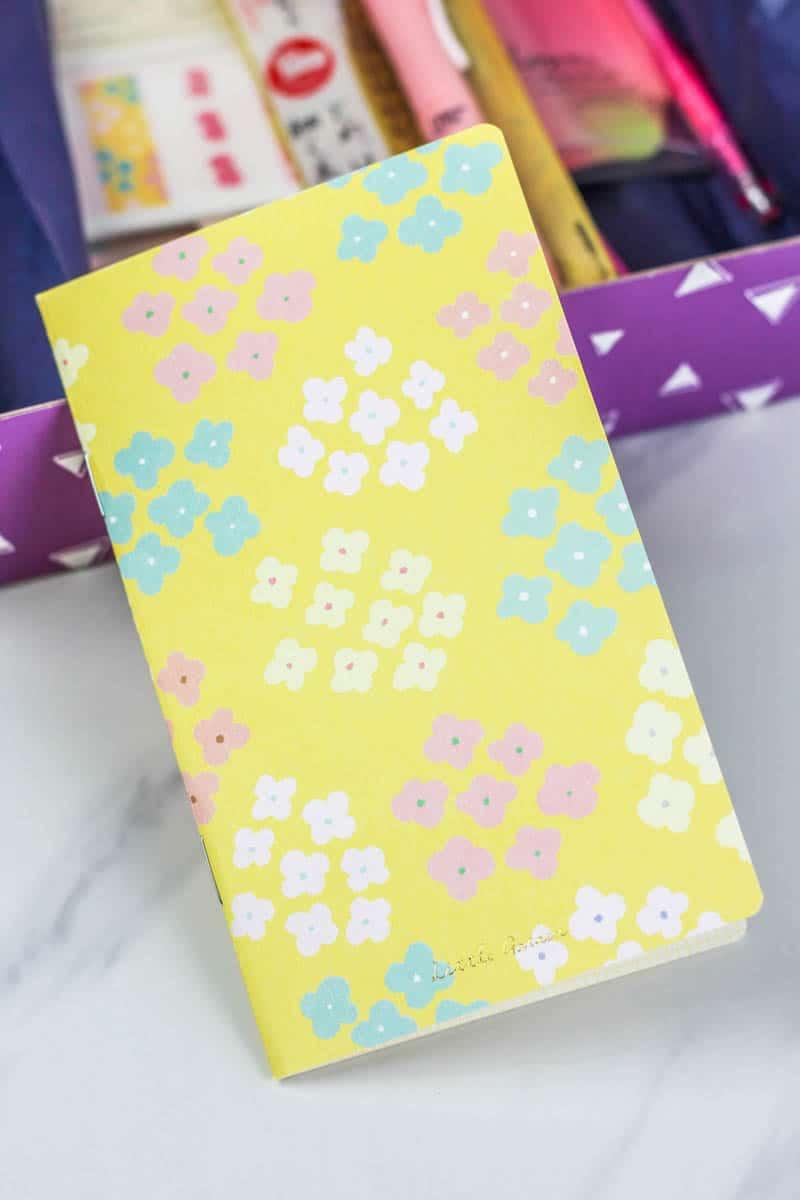 Notebook inside zenpop stationery box
