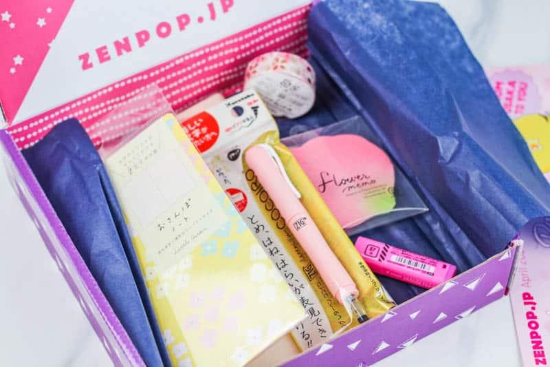 zenpop stationery box april 2020