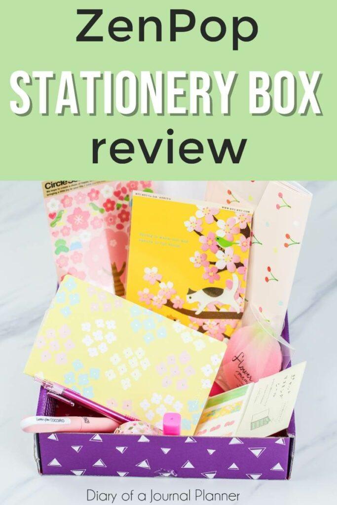 Zenpop stationery subscription box