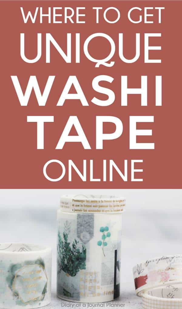 unique washi tape online