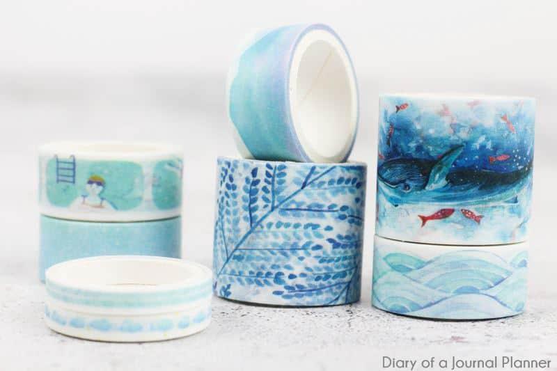 Sky and sea washi tape