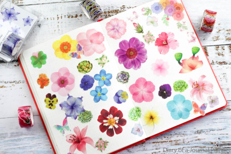 how to use washi petals