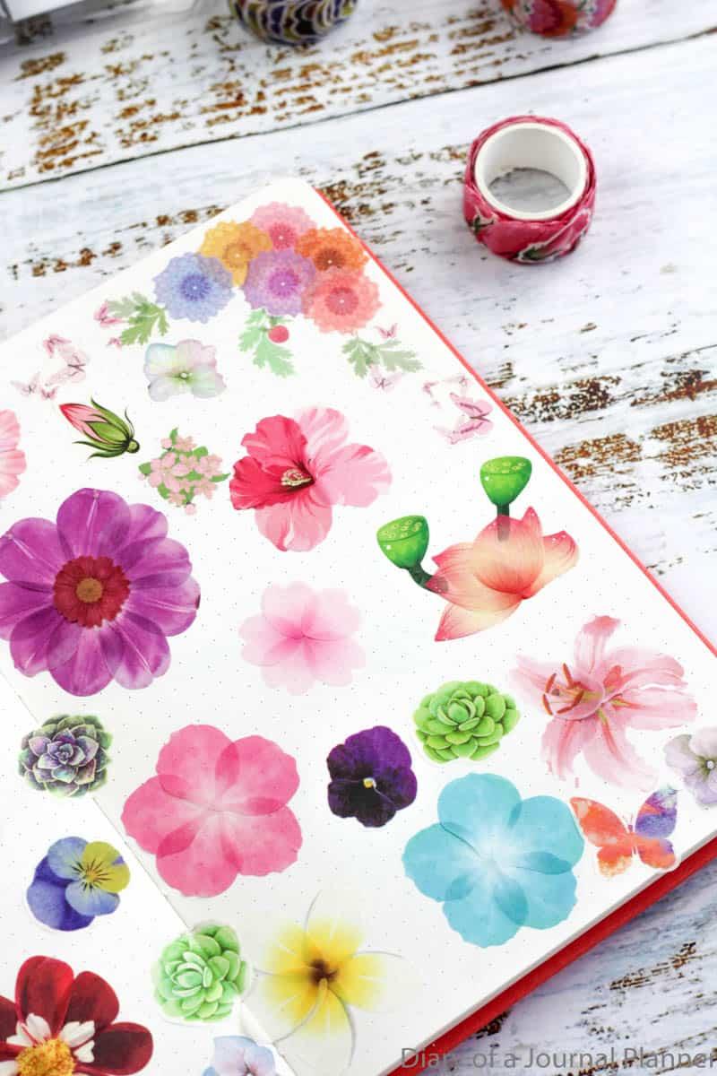 mix and match washi tape flowers