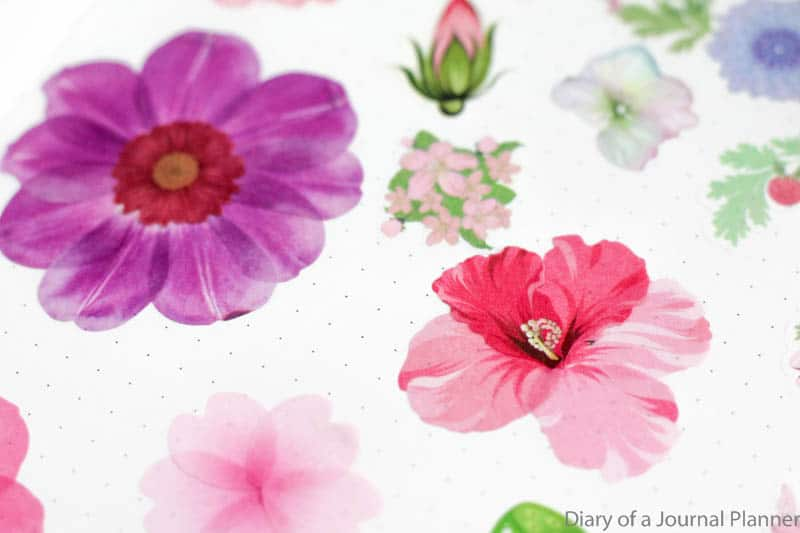 washi flower petal designs