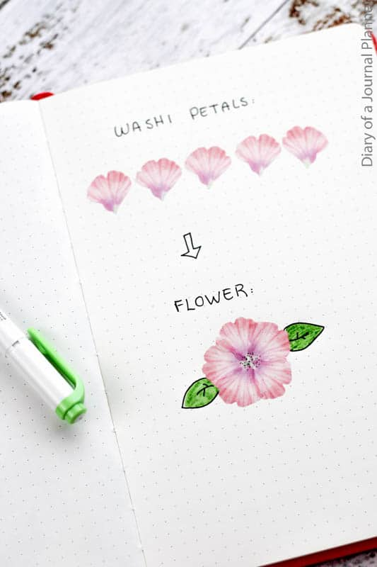 Washi tape flower petals