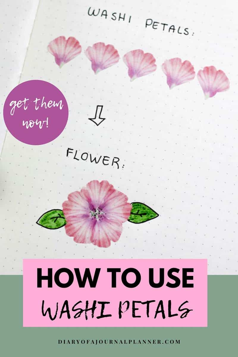 How to use washi tape petals sets