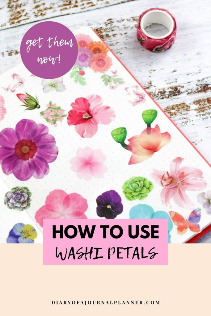 how to use washi tape petals