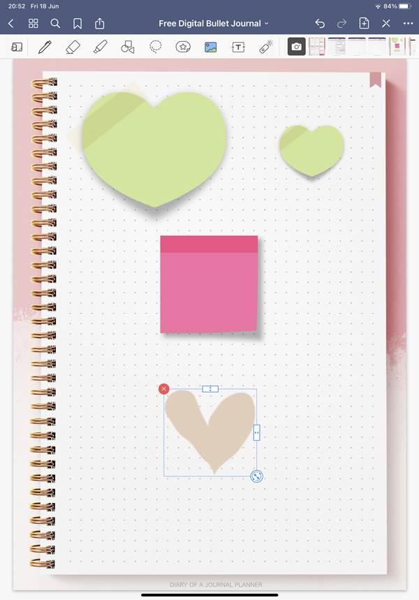 digital journal stickers