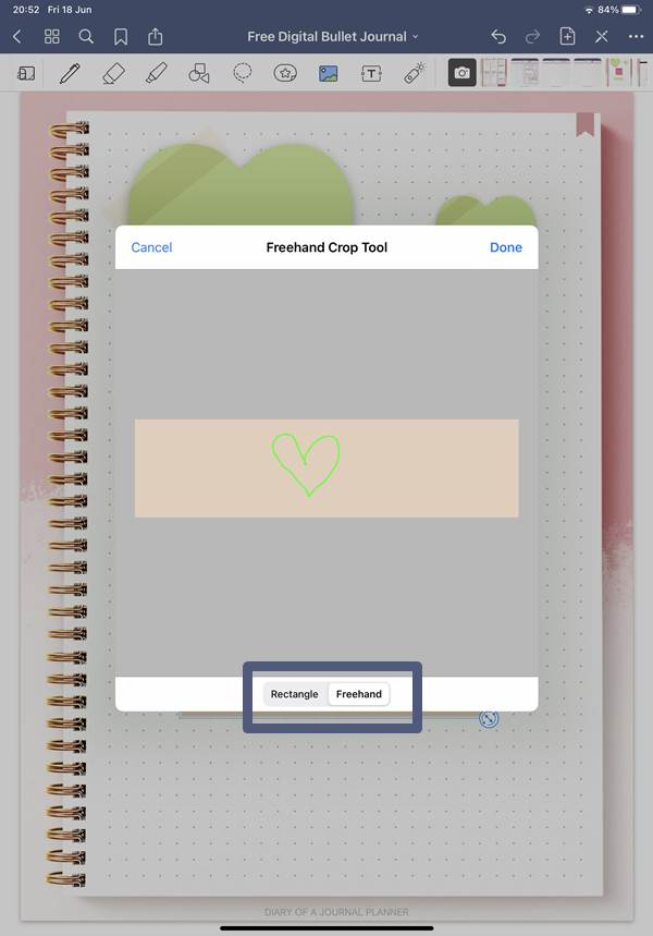 cropping goodnotes digital stickers