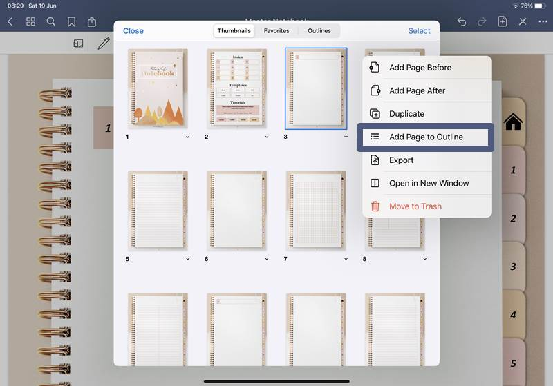 How to use Goodnotes outline
