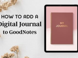 How to add a digital bullet journal in goodnotes