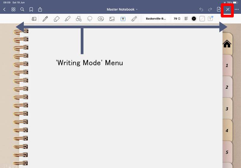 Goodnotes writing features