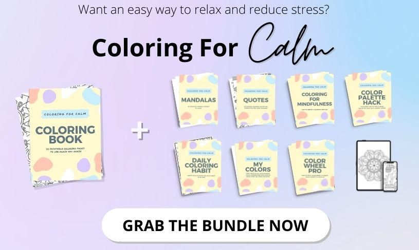 Coloring for calm bundle